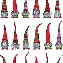 Hand Drawn Christmas Gnomes Pa...