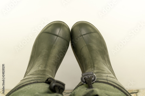 Fotografering Boots EVA Ethylene-vinyl acetate - great shoes for outdoor activities in extreme