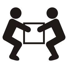 Warning Sign, Handling Heavy Loads, Vector Icon