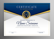 Elegant Blue And Gold Diploma ...
