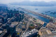 Top View Of Hong Kong City Res...