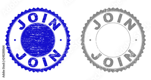 Photo  Grunge JOIN stamp seals isolated on a white background