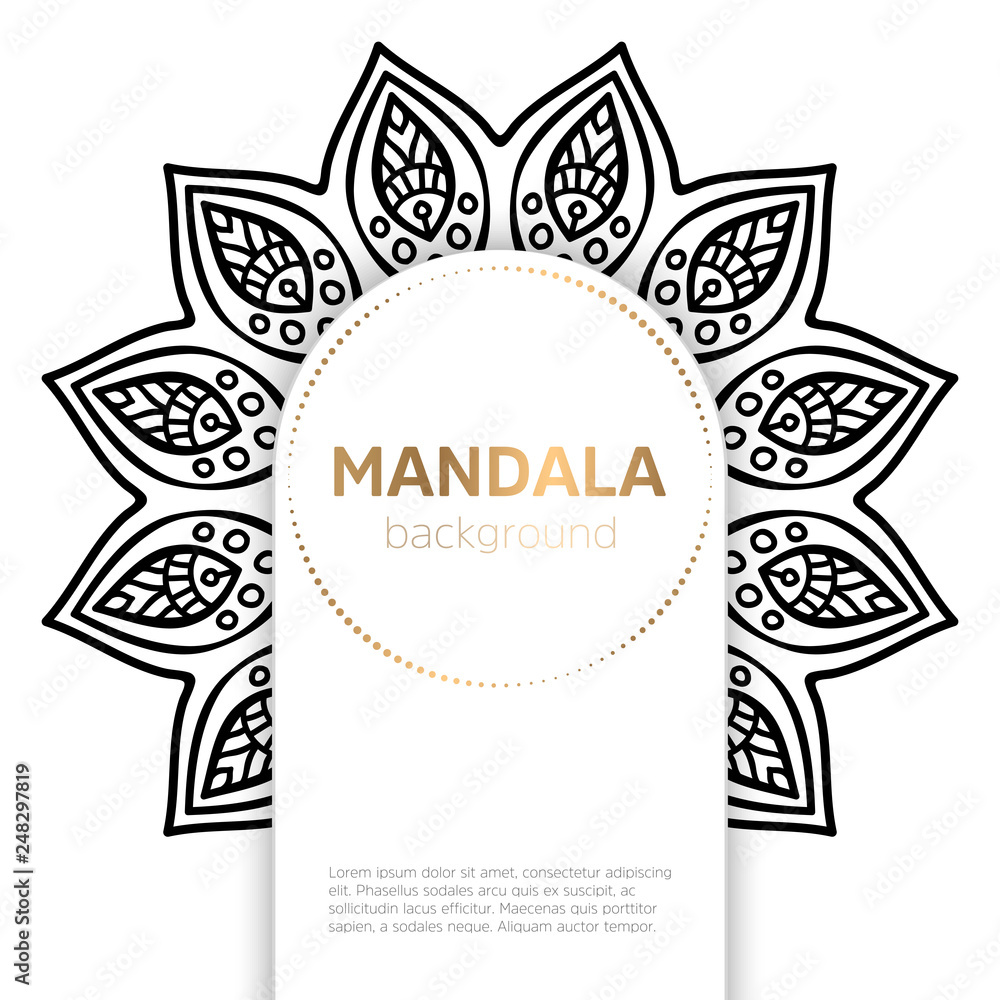 Fototapety, obrazy: Vector indian Mandala