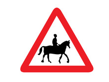 Traffic Signs Horse Riders