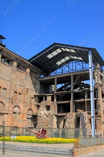 Papiers peints Les vieux bâtiments abandonnés debris of the factory