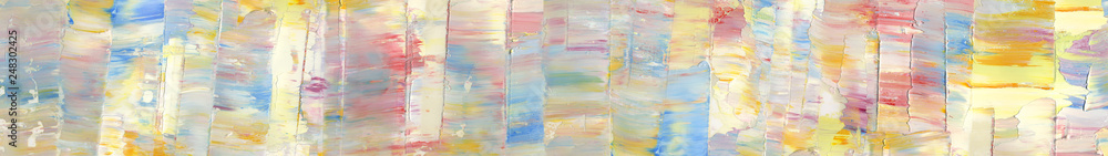 Fototapeta Hand drawn colorful abstract painting background. Oil paint texture.  High detail. Can be used for web design, art print, etc.