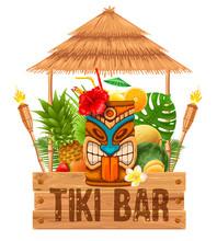 Signboard Of Tiki Bar