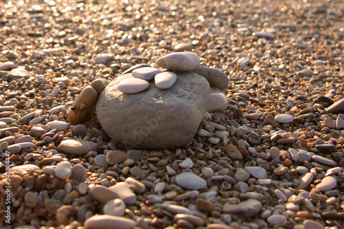 Photo sur Plexiglas Zen pierres a sable Pietra