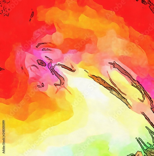 Abstract Acrylic Watercolor Background Colorful High