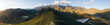 canvas print picture - Panoramic aerial image over the country side outside the town of Robertson in the western cape of South Africa