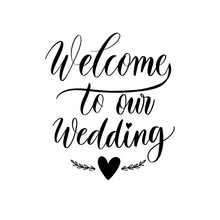 Welcome To Our Wedding Letteri...