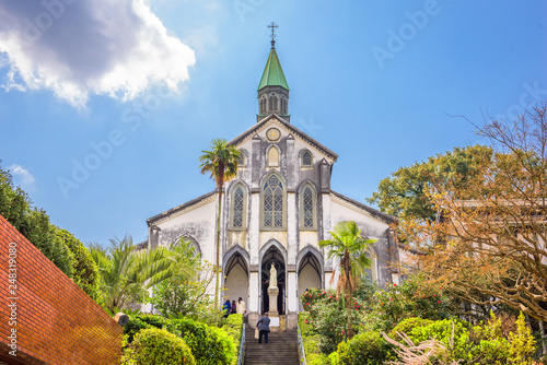 Fotografie, Obraz Nagasaki, Japan at historic Oura Church.