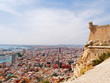 Panorama of the city of Alicante and the sea. Spain.
