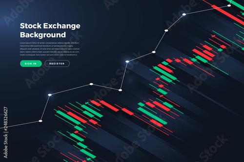 Leinwand Poster Stock exchange background