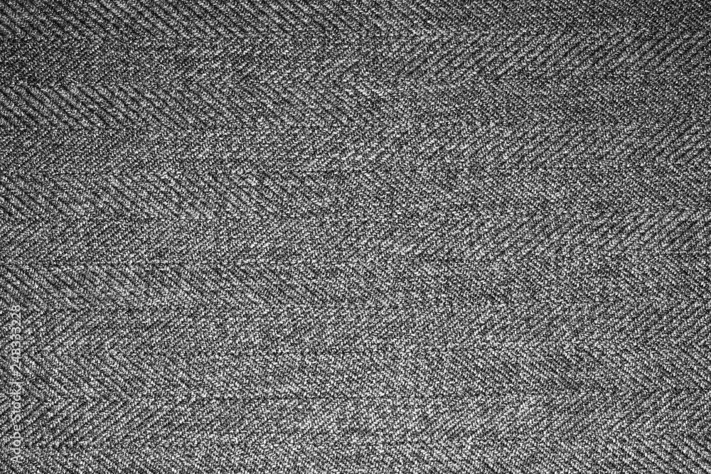 Fototapety, obrazy: Grey woolen fabric texture.Gray woolen background.
