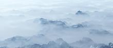 Aerial Of Rough Steep Snowy Mo...