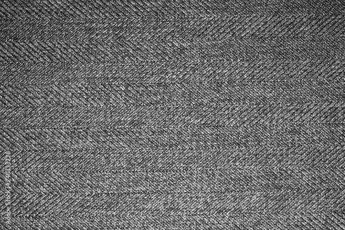 Poster Tissu Grey woolen fabric texture.Gray woolen background.