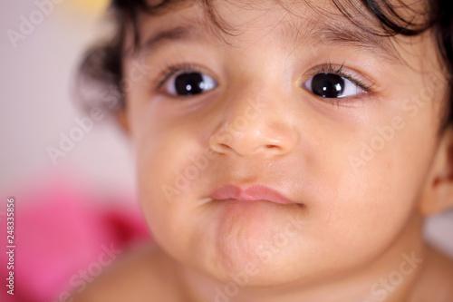 Photo Head shot of adorable baby boy