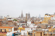 Rooftops of immigrant neighbourhood of Raval, Barcelona, Spain