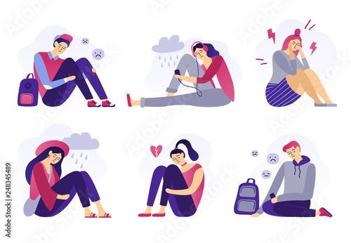 Obraz na płótnie Depressed teenagers