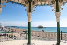 Brighton Bandstand And Pier, Sussex, England