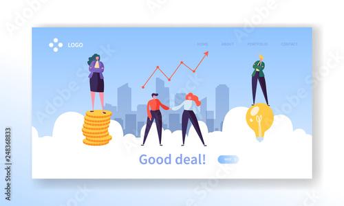 Fotografía  Business Deal Handshake Concept Landing Page