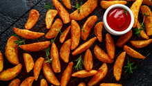 Paprika Potato Wedges Fries Ch...