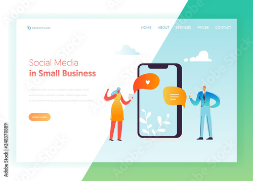 Social Media Networking Communication Concept Landing Page
