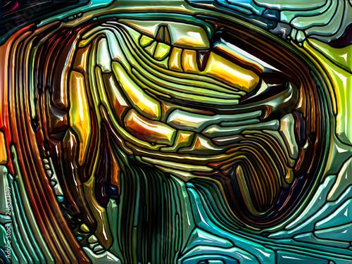 Obraz na plátně  Vivid Iridescent Color Glass