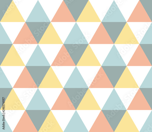 obraz dibond Seamless geometric pattern. Seamless abstract triangle geometrical background. Infinity geometric pattern. Vector illustration.