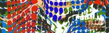 Panorama Wide Header Border Abstract Grid Dot Free Form Design In Multicolors
