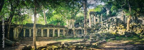Foto auf AluDibond Khaki Beng Mealea or Bung Mealea temple. Siem Reap. Cambodia. Panorama