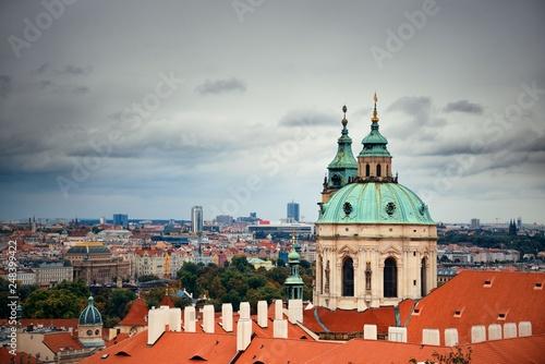 Photo  Prague skyline rooftop view dome
