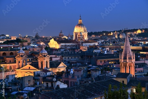 In de dag Mexico Rooftop view of Rome