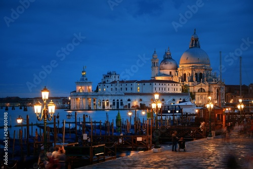 Fototapety, obrazy: Venice Santa Maria della Salute church at night