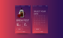French Press Coffee Festival App Interface Design