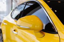 Chrome Yellow Car Design Eleme...