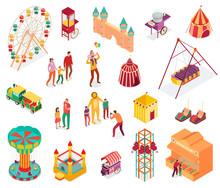 Amusement Park Isometric Set