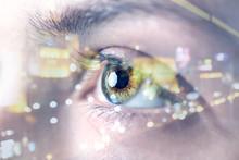 Young Woman With Beautiful Eyes, Closeup