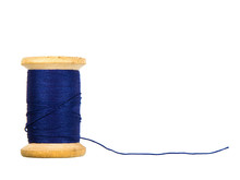 Sewing Threads Spool Isolated On White