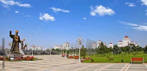 Ashgabat, Turkmenistan - Monuments to historical figures of Turkmenistan in the park Wallpaper Mural