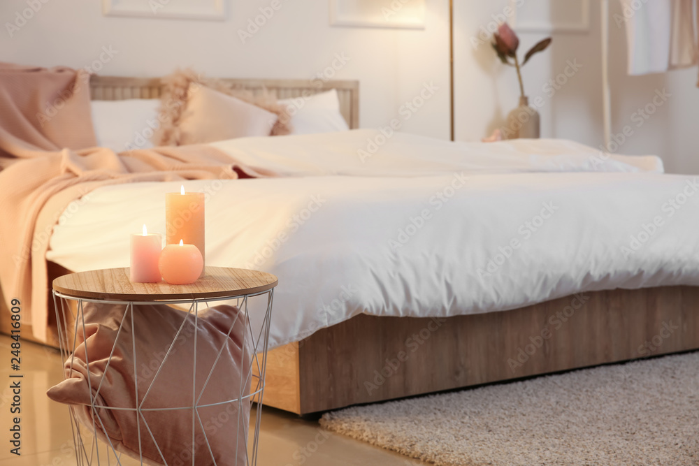 Fototapety, obrazy: Interior of beautiful modern bedroom