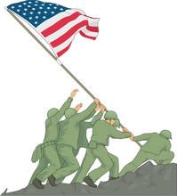 Iwo Jima Memorial Vector Illus...