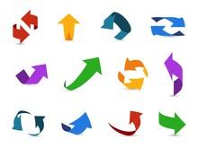 Arrow 3d Set. Colorful Arrows ...