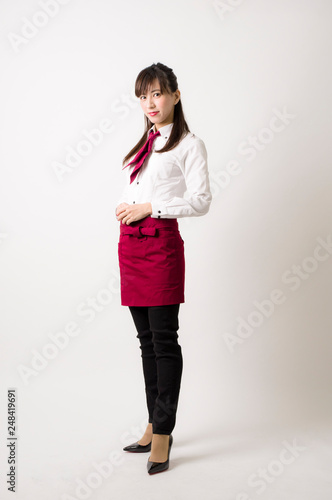 Fotografía  業務用ユニフォームを着た女性
