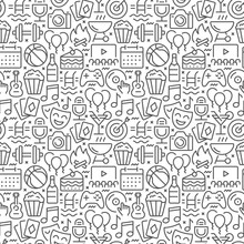 Event Seamless Pattern With Th...