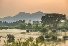 Mekong River 4000 Islands Laos...
