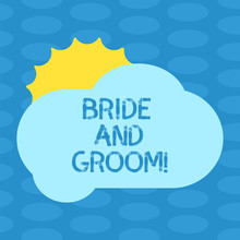 Word Writing Text Bride And Gr...