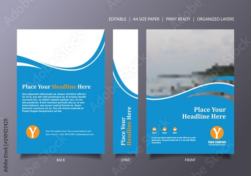 Photo  light Blue Book Cover Template