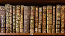 Old Books In Joanina Library, Univerisyt Of Coimbra